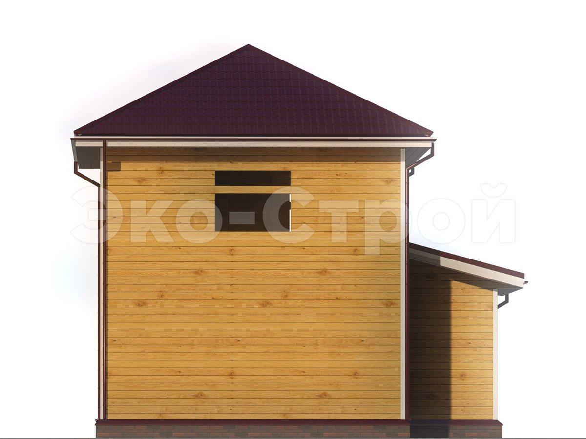 Дом из бруса ДУ 065 вид 2
