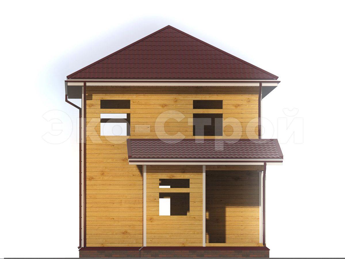 Дом из бруса ДУ 065 вид 1