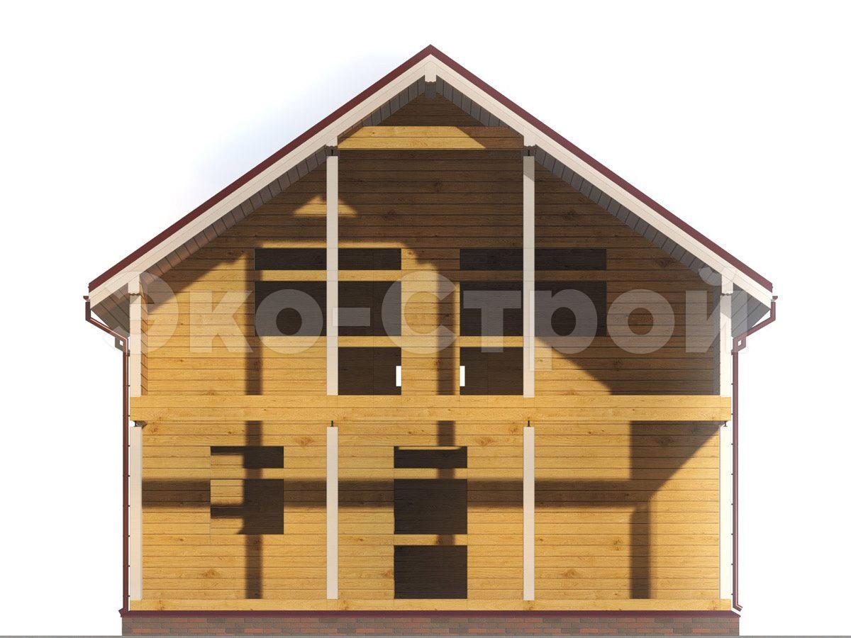 Дом из бруса ДУ 066 вид 4