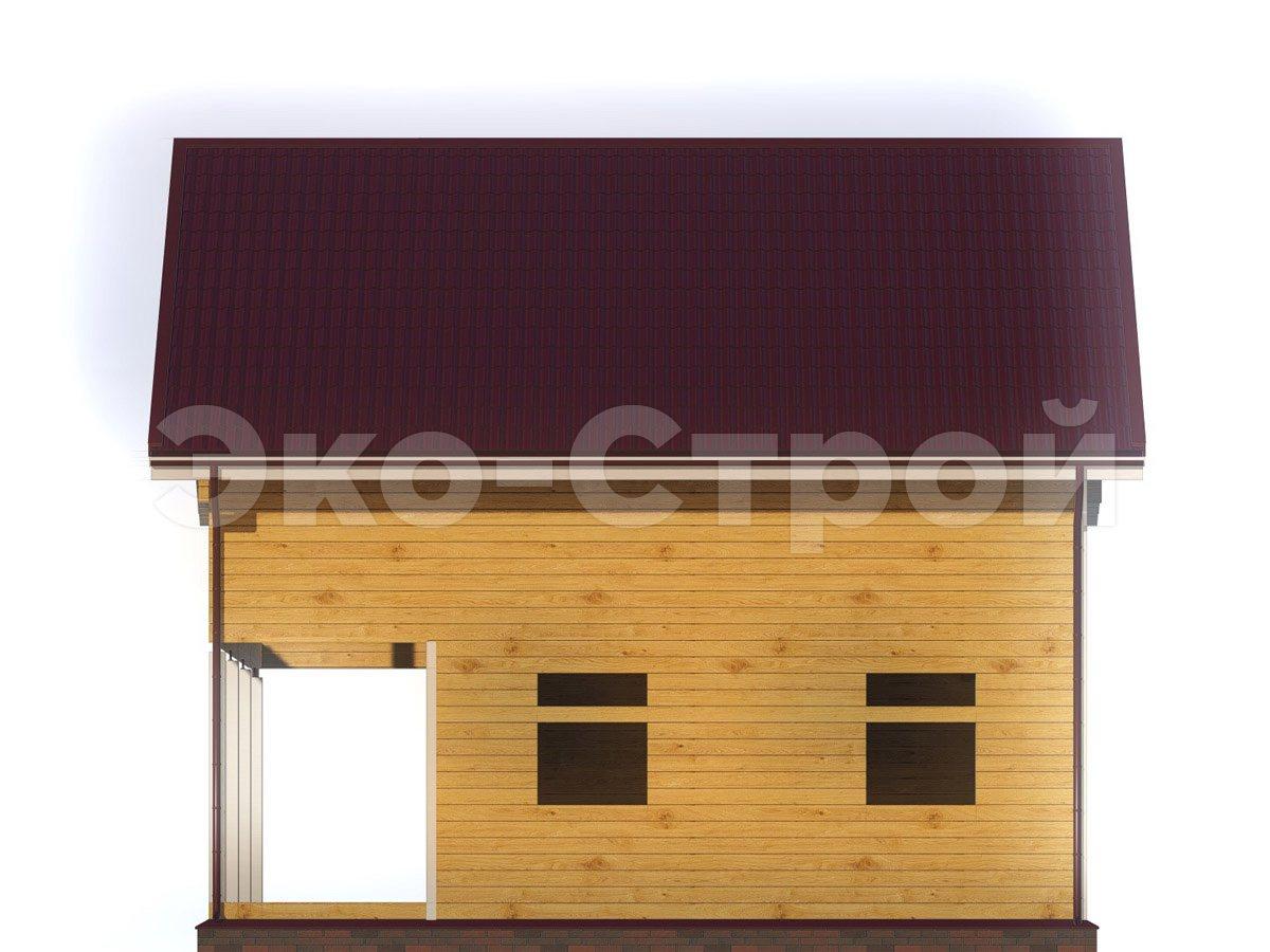Дом из бруса ДУ 066 вид 3