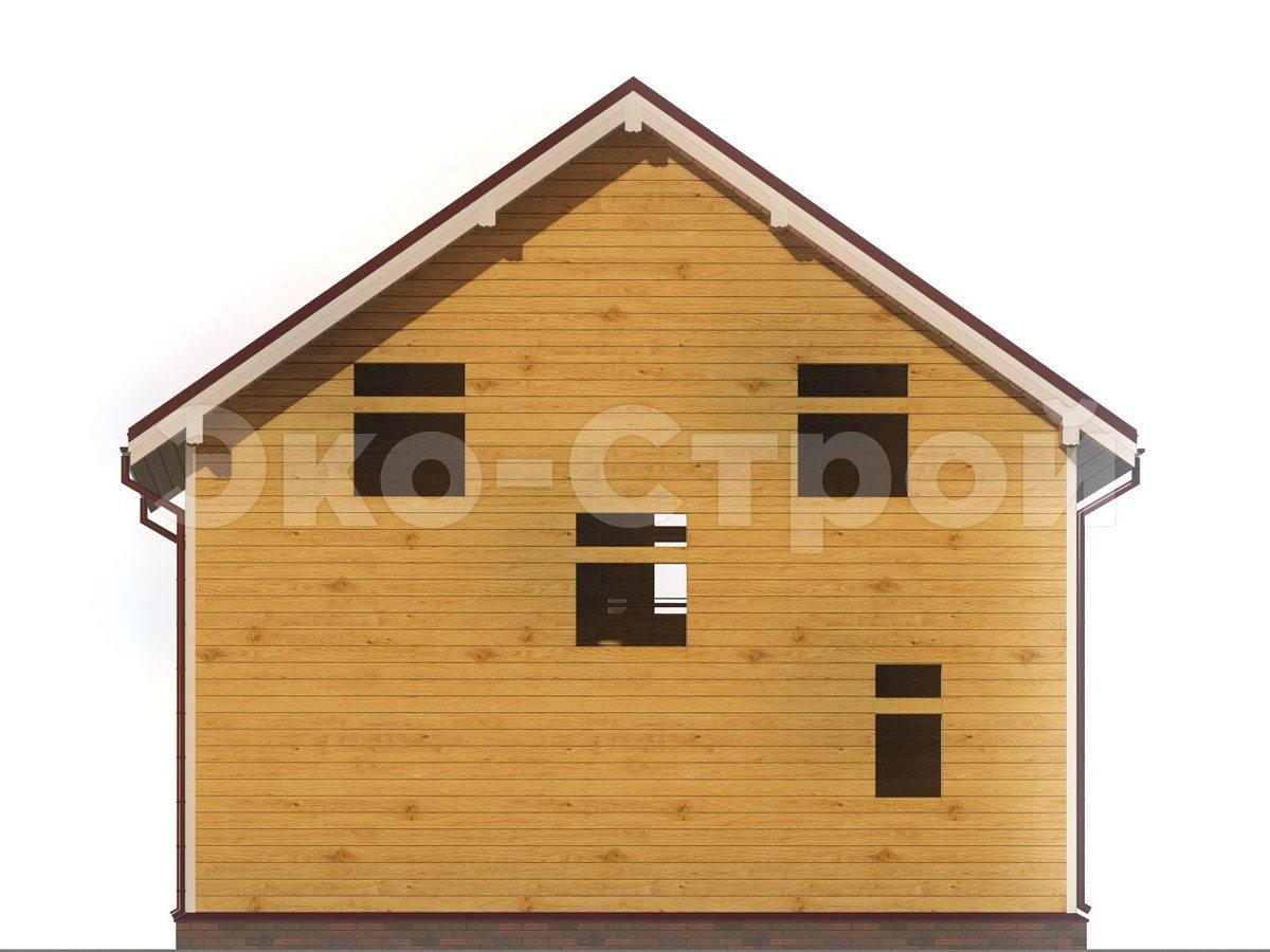 Дом из бруса ДУ 066 вид 2