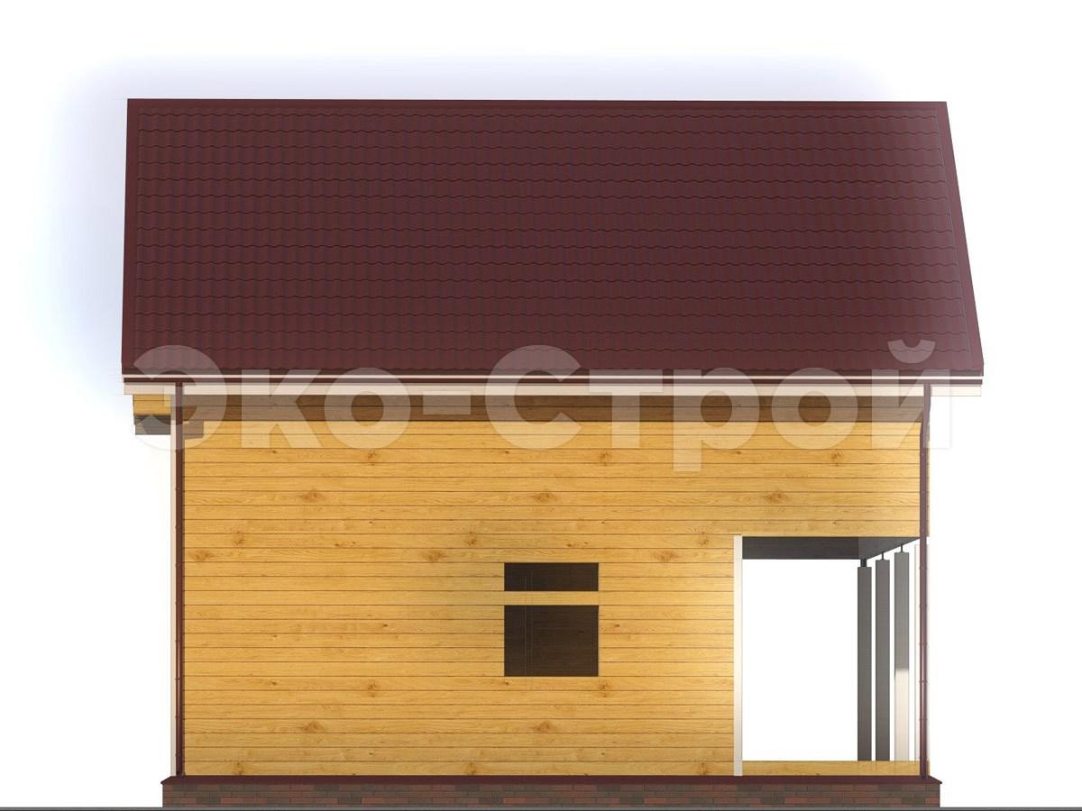 Дом из бруса ДУ 066 вид 1