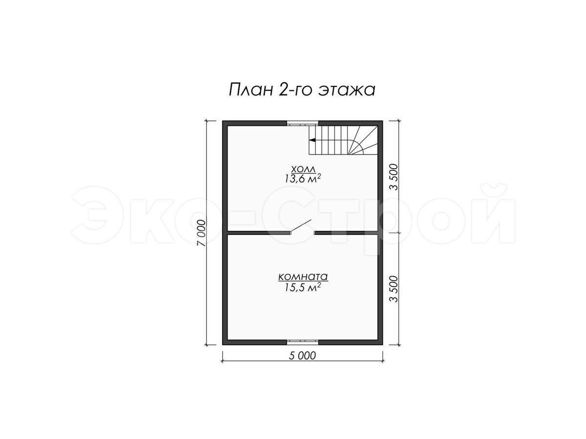 Дом из бруса ДУ 067 план 2 эт