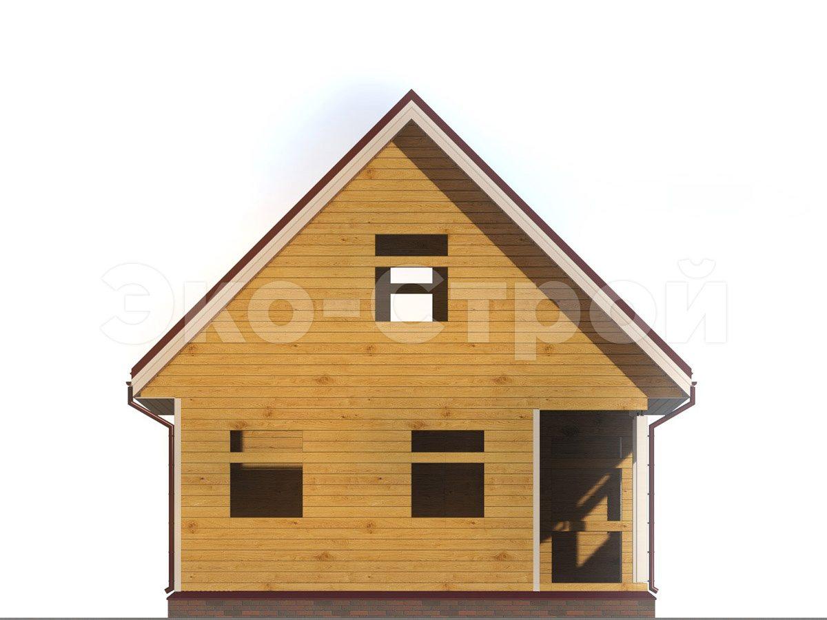 Дом из бруса ДУ 067 вид 4