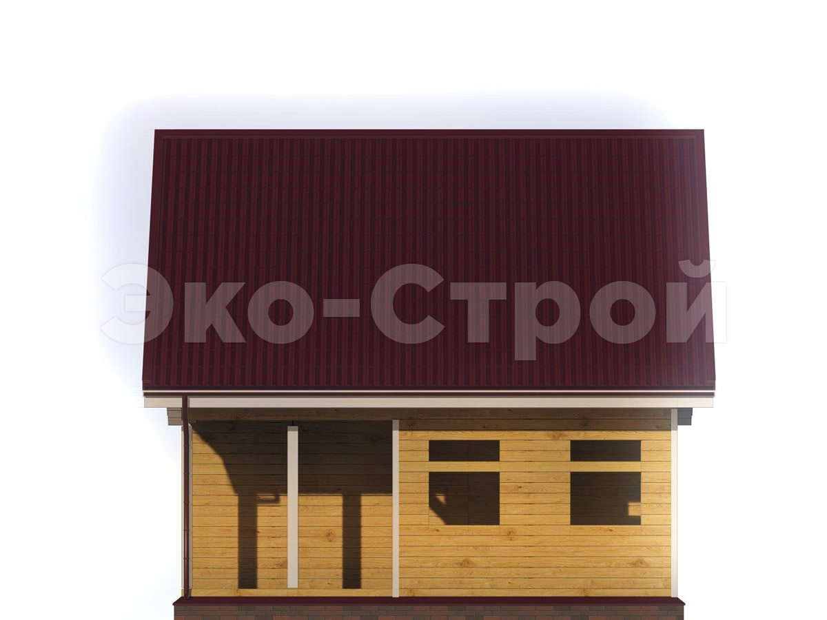Дом из бруса ДУ 067 вид 3