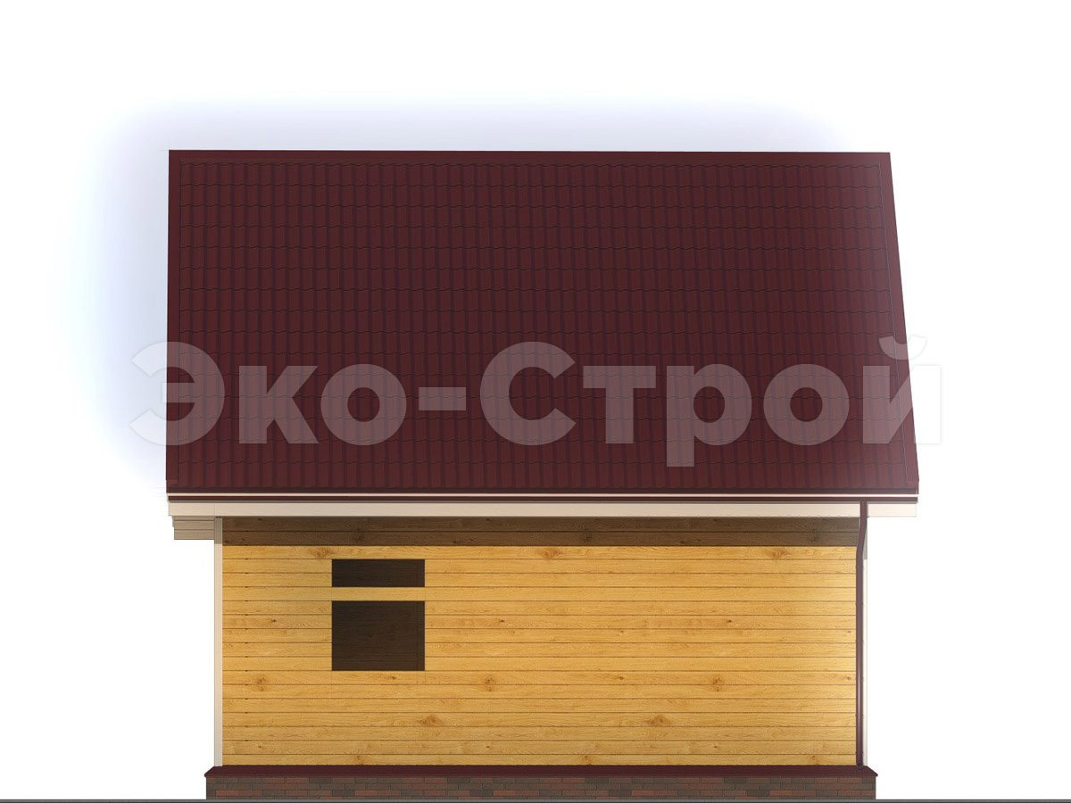 Дом из бруса ДУ 067 вид 1