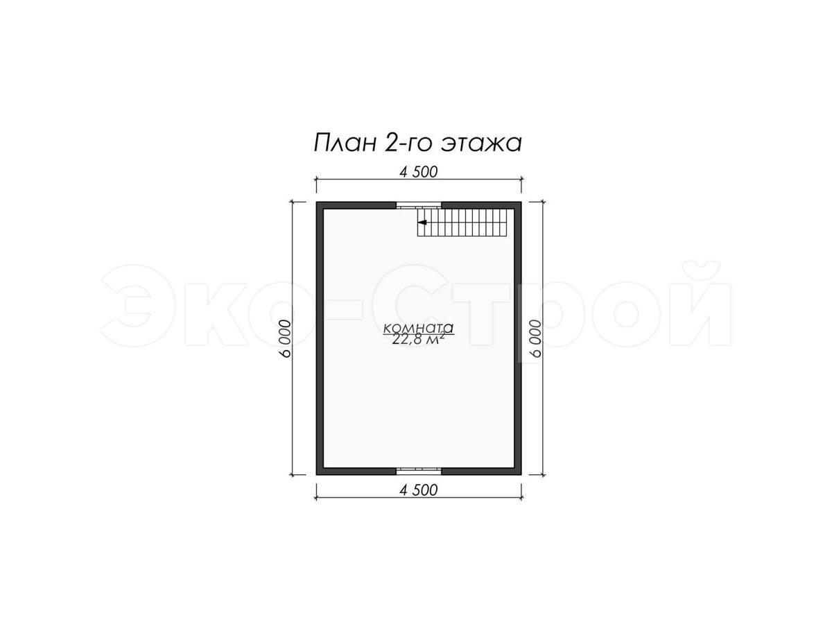 Дом из бруса ДУ 068 план 2 эт