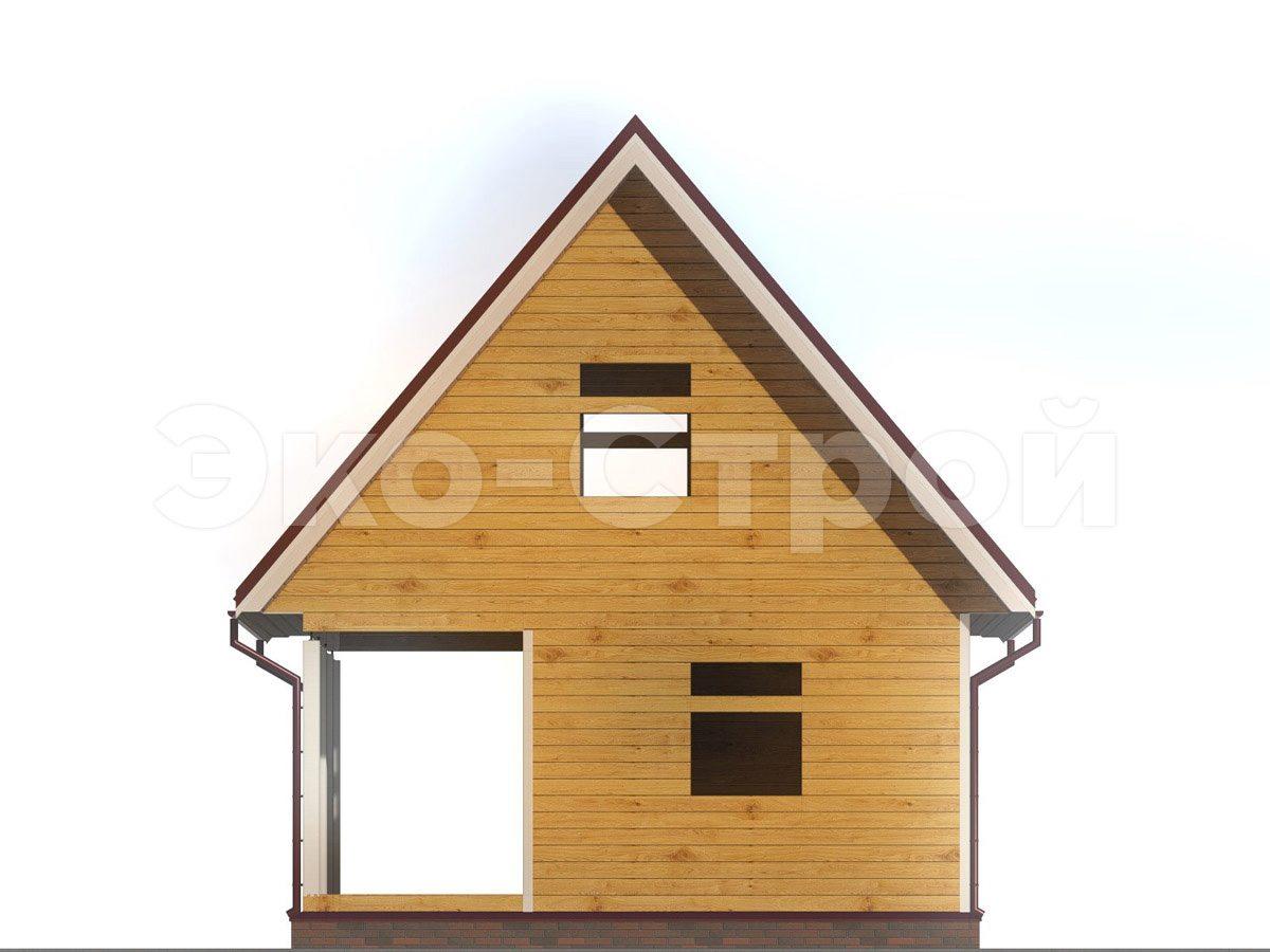 Дом из бруса ДУ 068 вид 4