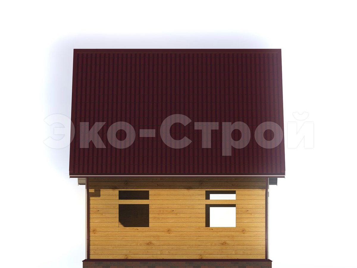 Дом из бруса ДУ 068 вид 3