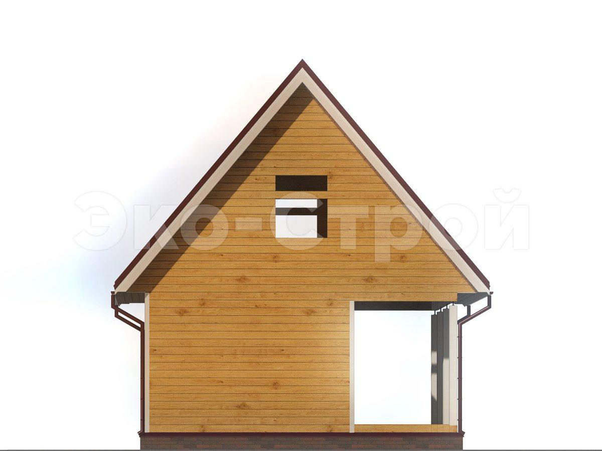 Дом из бруса ДУ 068 вид 2