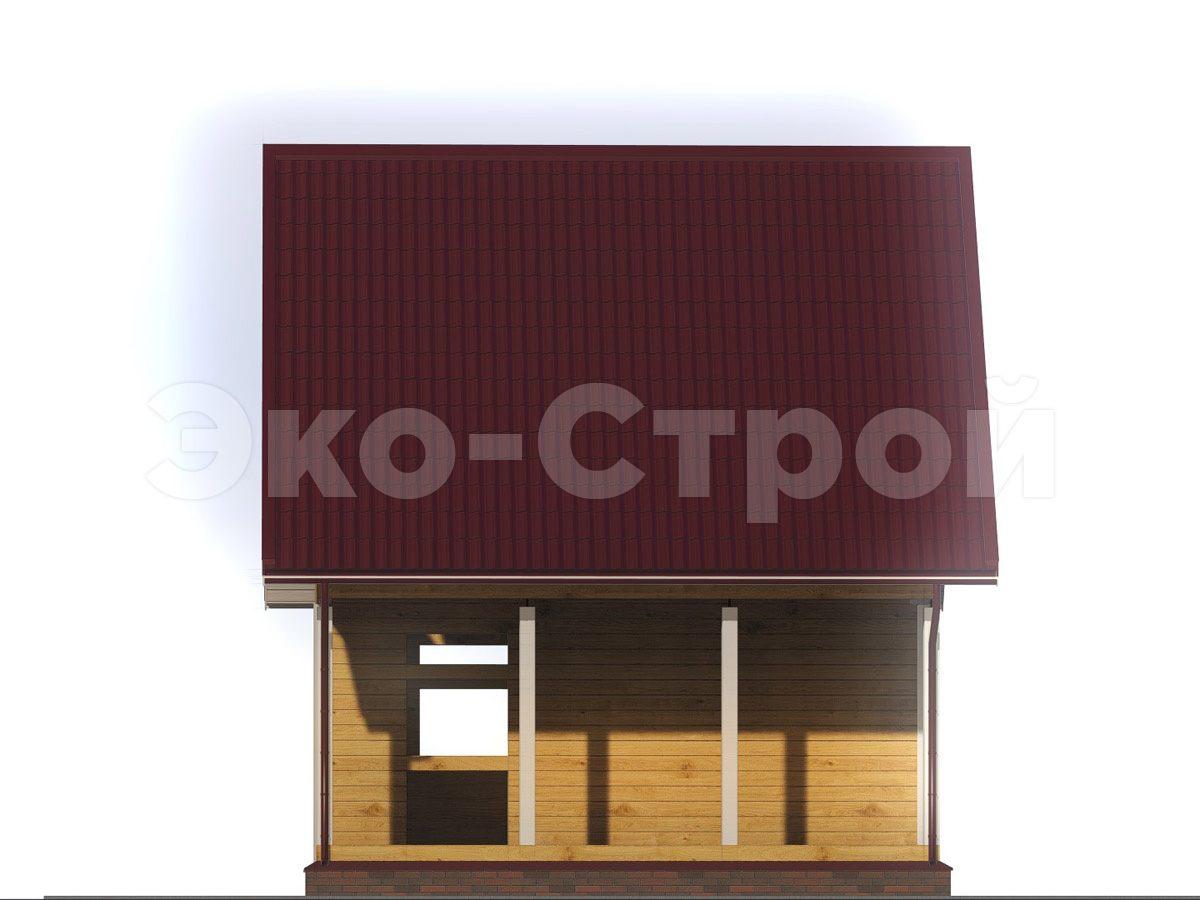 Дом из бруса ДУ 068 вид 1