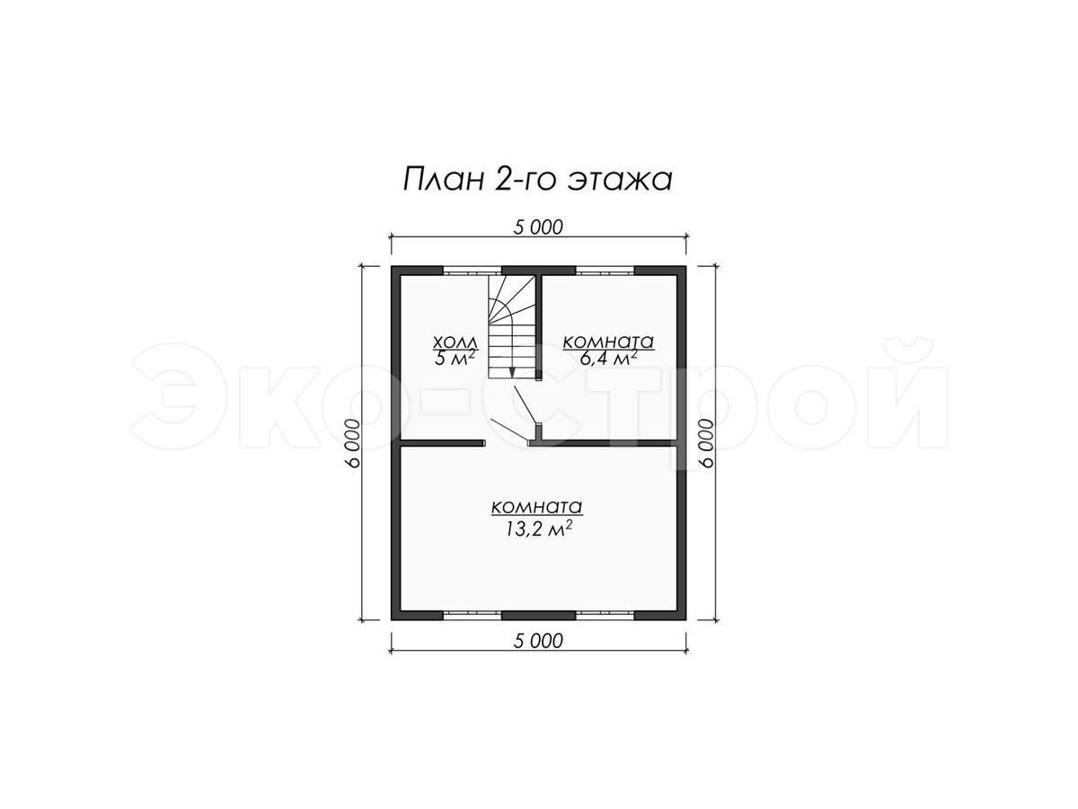 Дом из бруса ДУ 069 план 2 эт