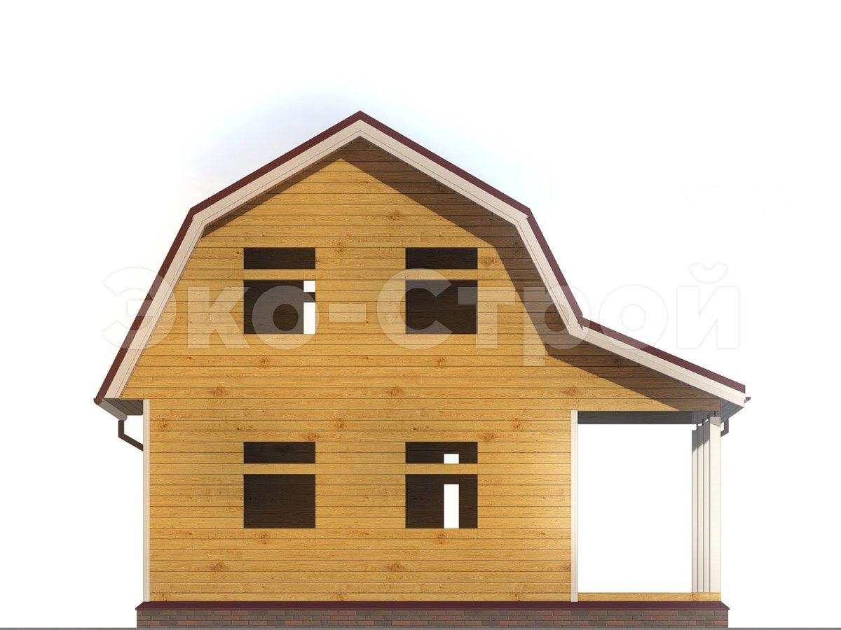 Дом из бруса ДУ 069 вид 4