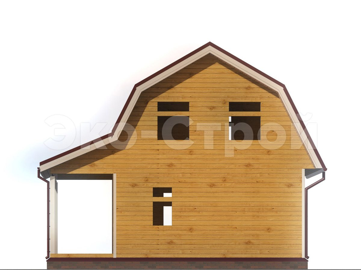 Дом из бруса ДУ 069 вид 2