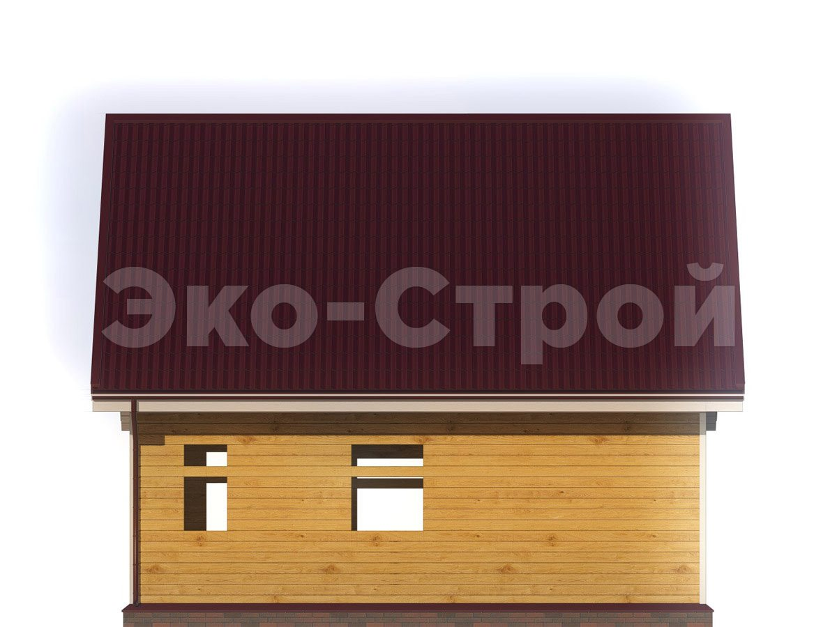 Дом из бруса ДУ 070 вид 3