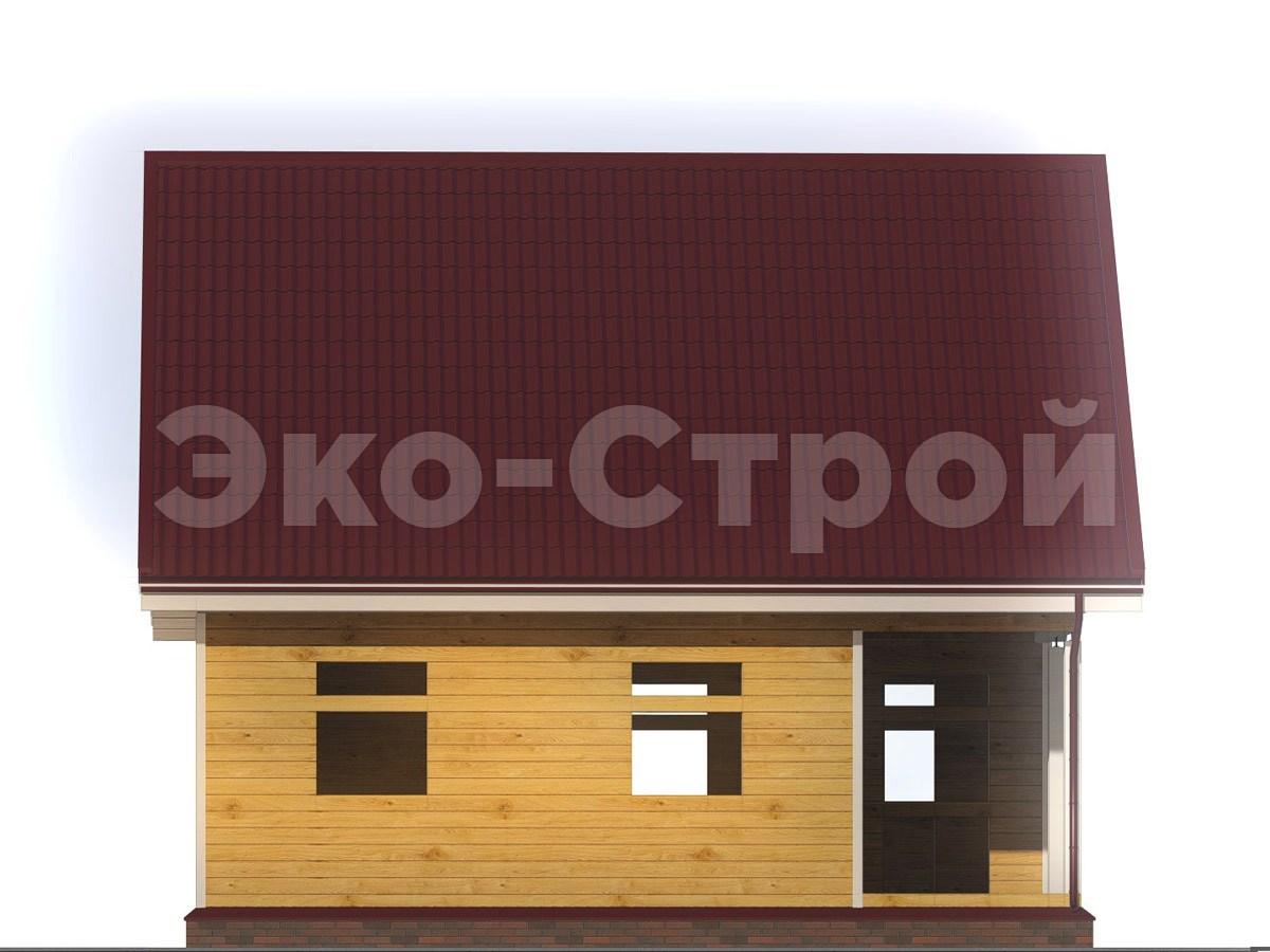 Дом из бруса ДУ 070 вид 1