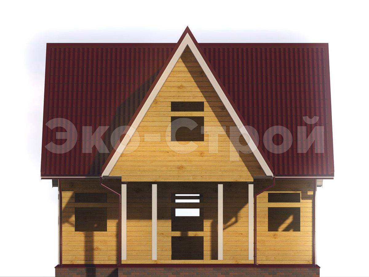 Дом из бруса ДУ 071 вид 4