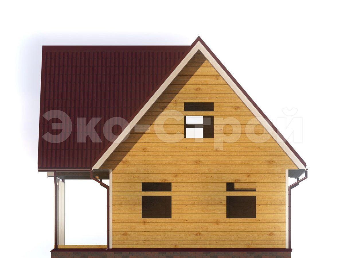 Дом из бруса ДУ 071 вид 3