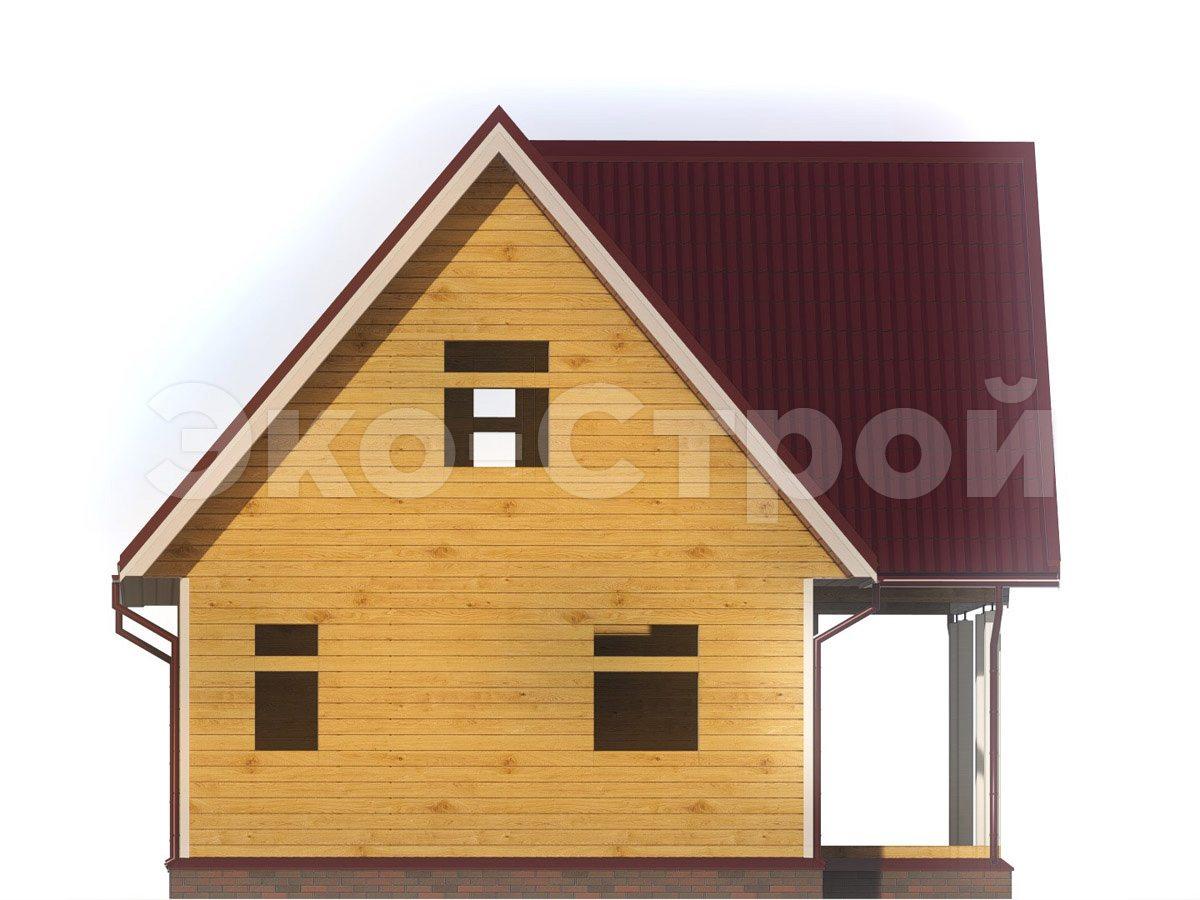 Дом из бруса ДУ 071 вид 1