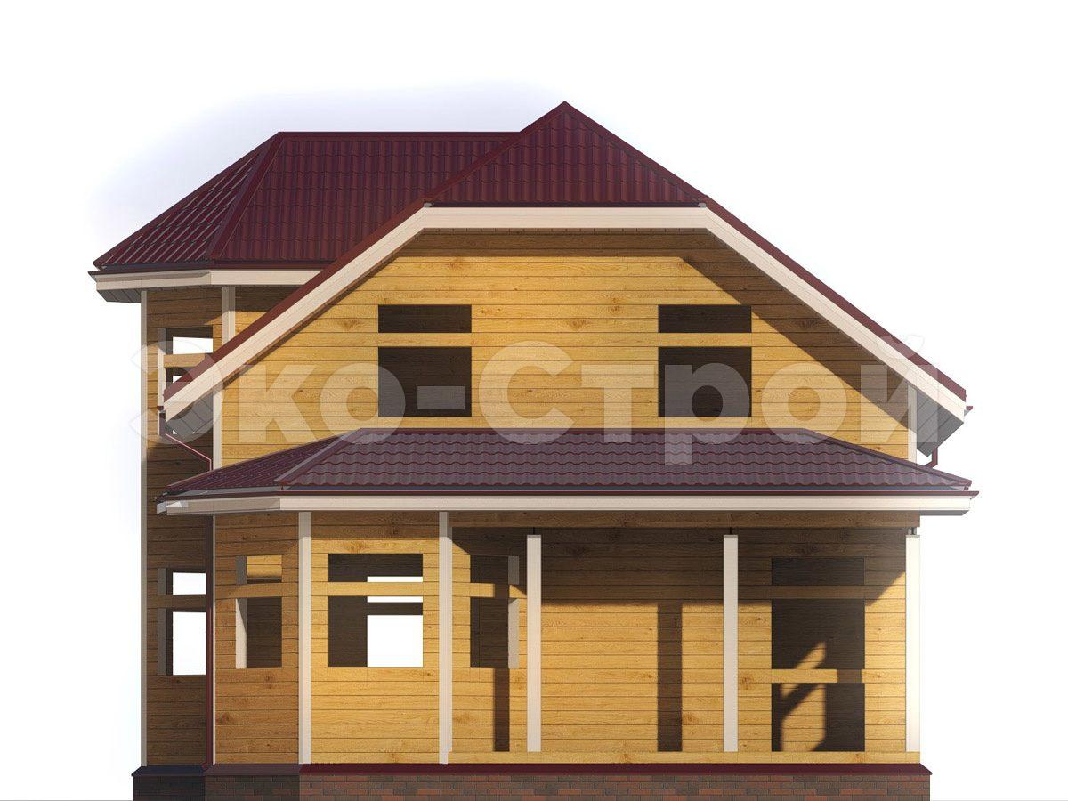 Дом из бруса ДУ 072 вид 4