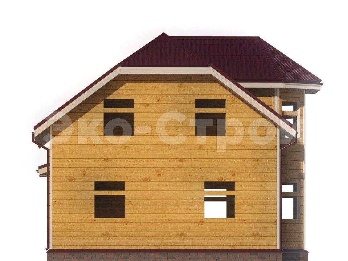 Дом из бруса ДУ 072 вид 2