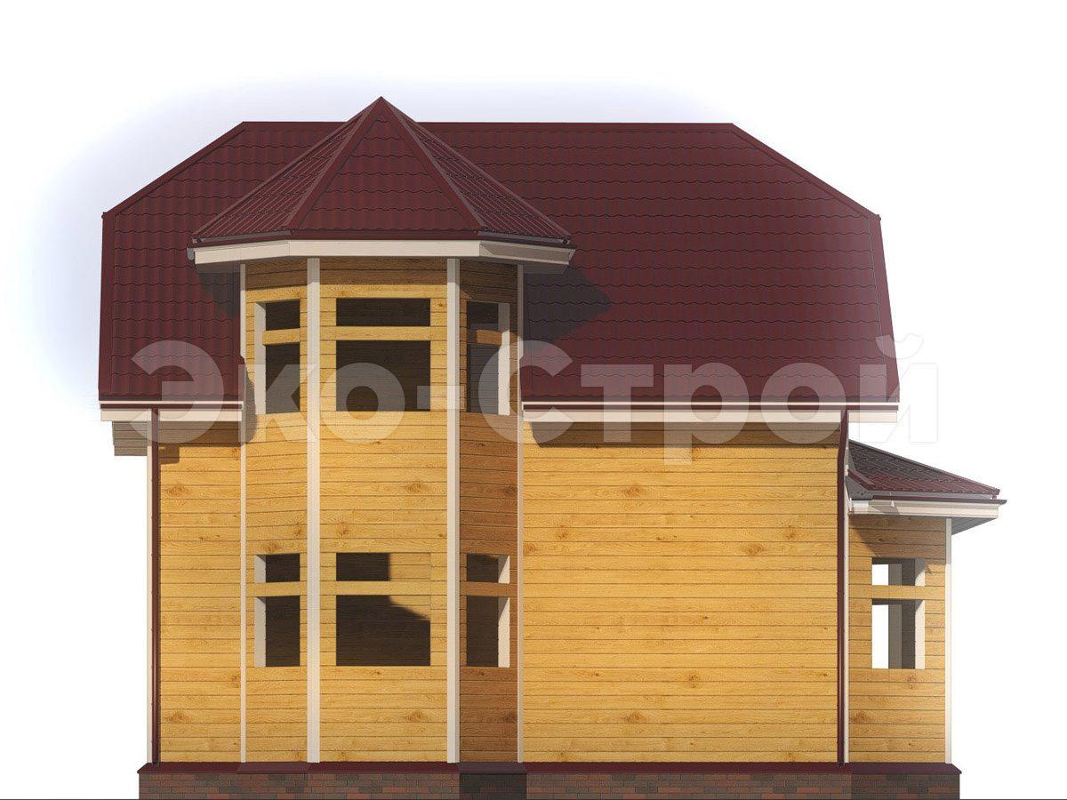 Дом из бруса ДУ 072 вид 1