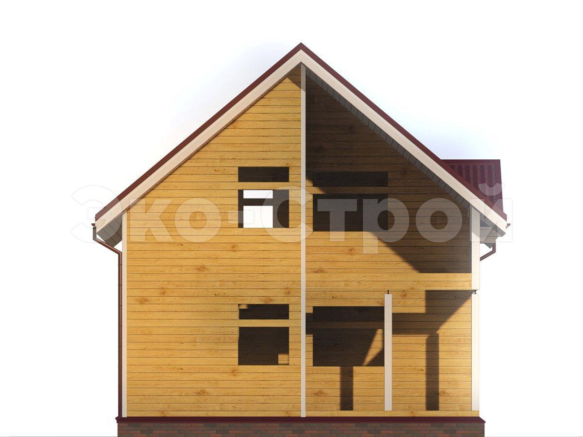Дом из бруса ДУ 073 вид 4