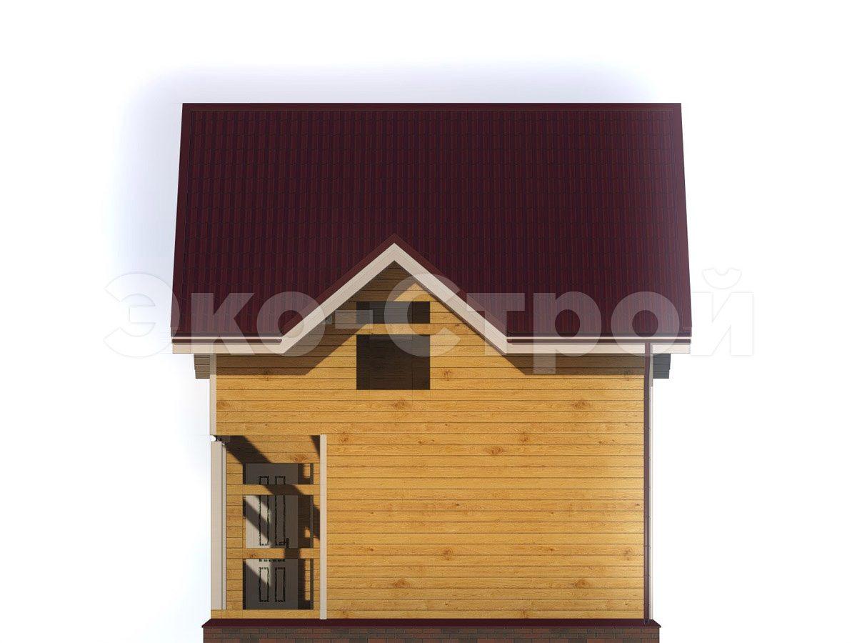 Дом из бруса ДУ 073 вид 3