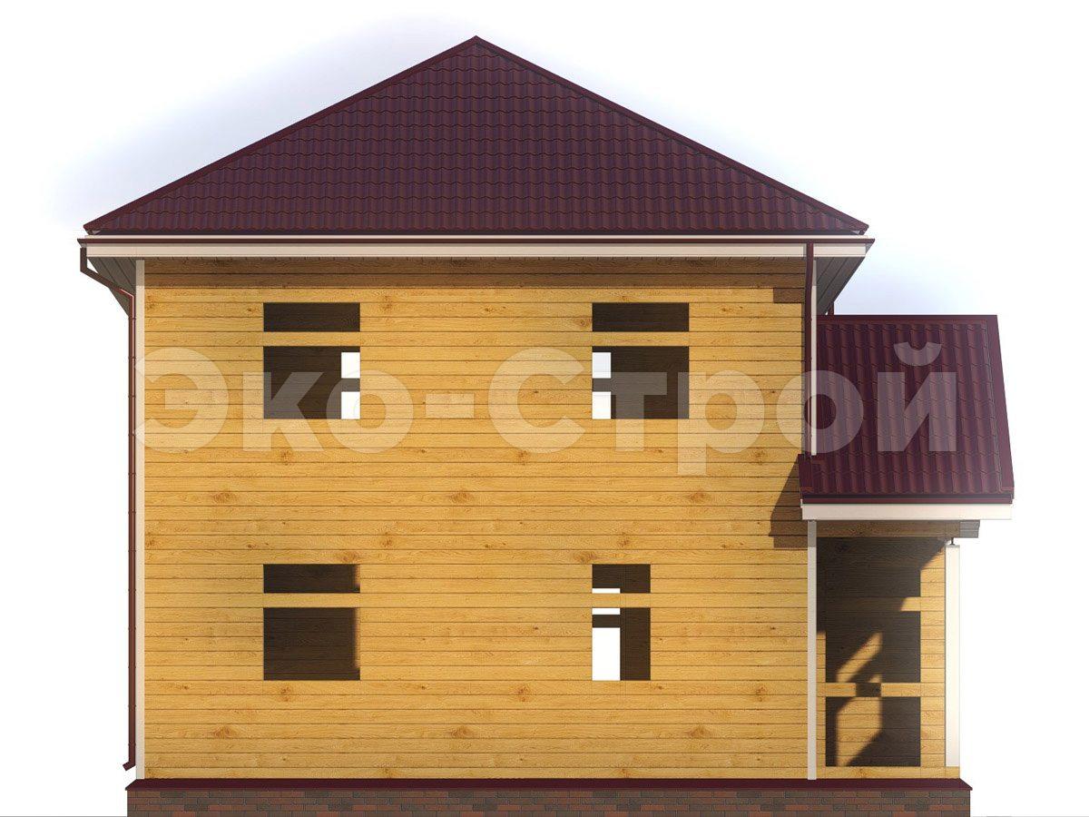 Дом из бруса ДУ 074 вид 4