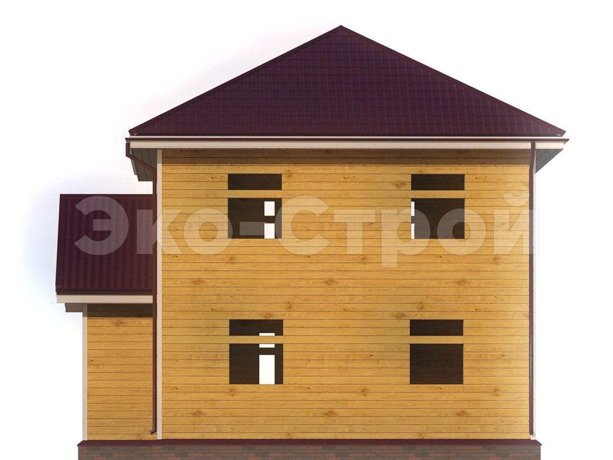 Дом из бруса ДУ 074 вид 2