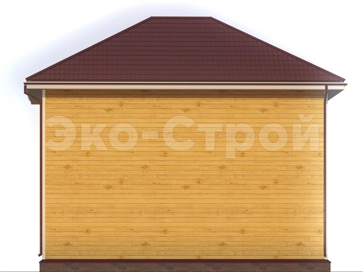 Дом из бруса ДУ 074 вид 1