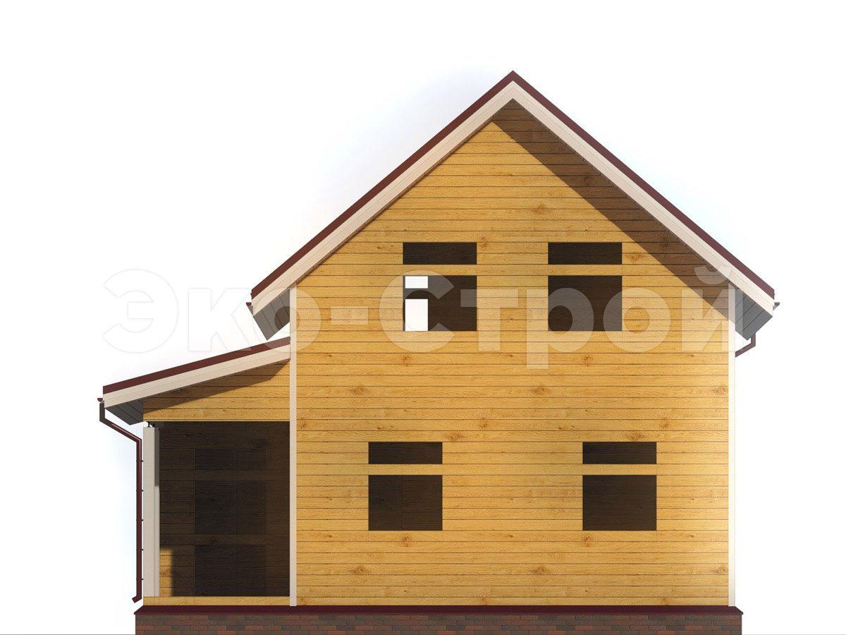 Дом из бруса ДУ 075 вид 4