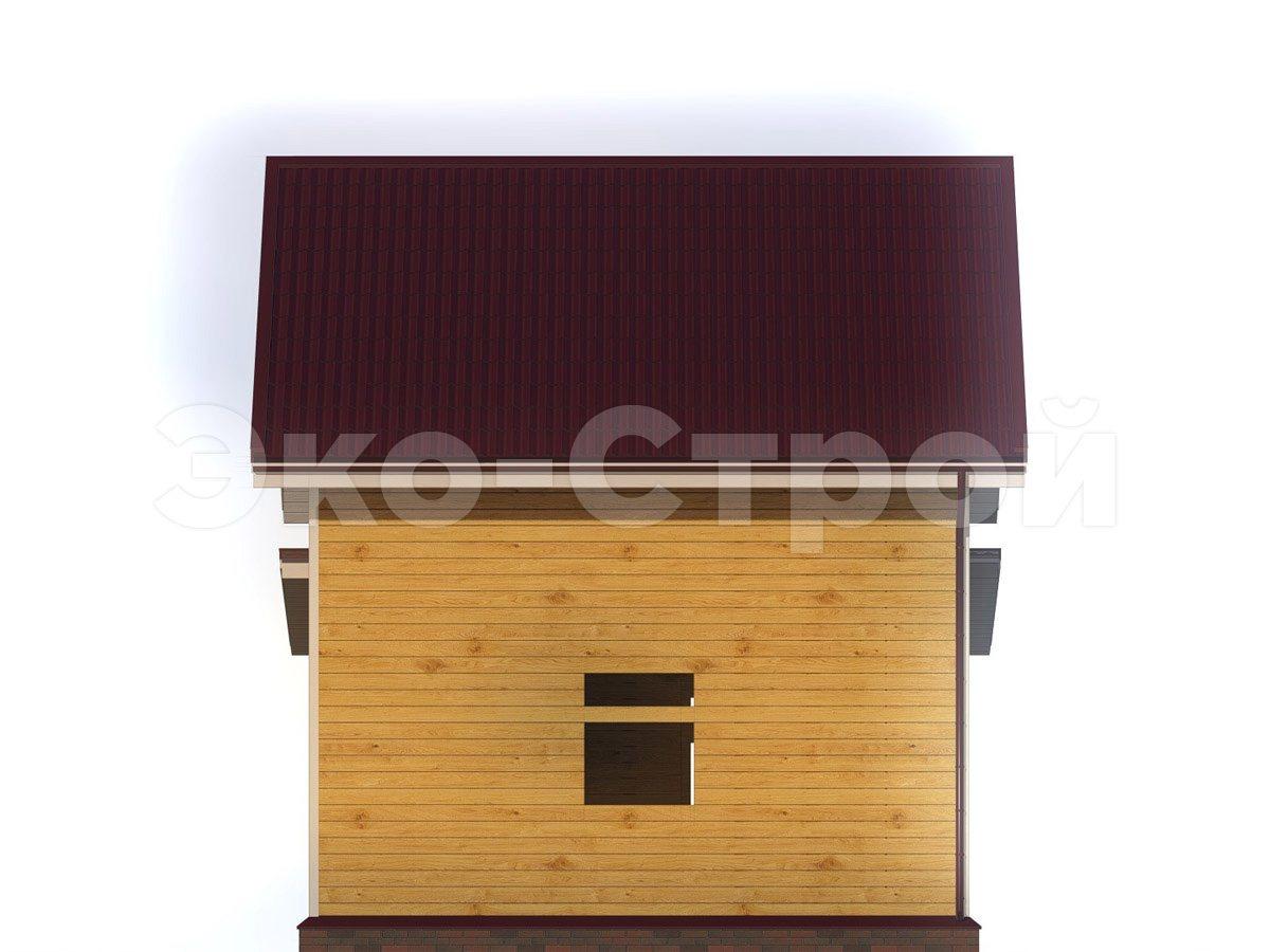 Дом из бруса ДУ 075 вид 3