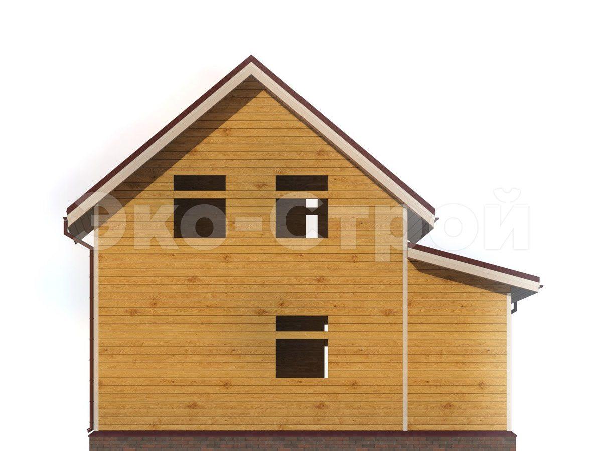 Дом из бруса ДУ 075 вид 2