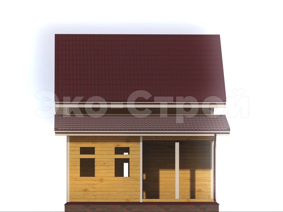 Дом из бруса ДУ 075 вид 1