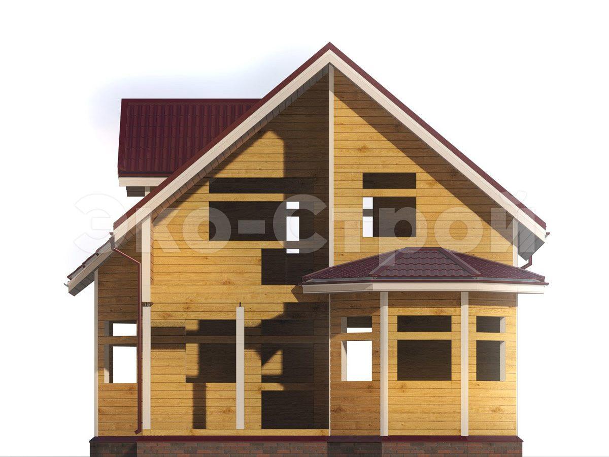 Дом из бруса ДУ 076 вид 2