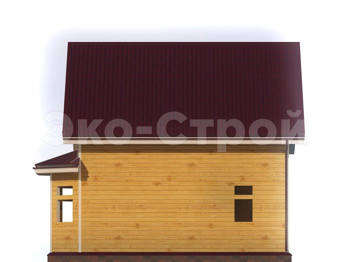 Дом из бруса ДУ 076 вид 3