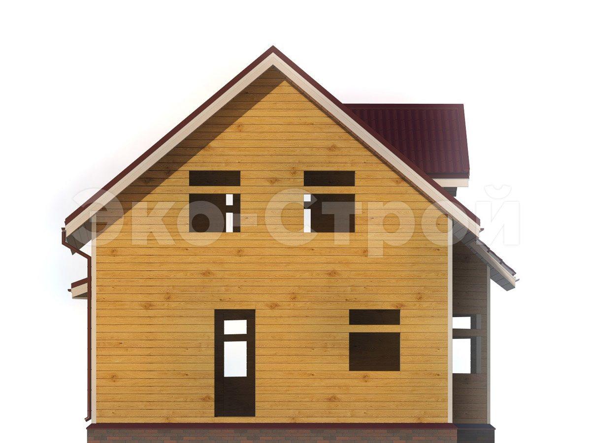 Дом из бруса ДУ 076 вид 4