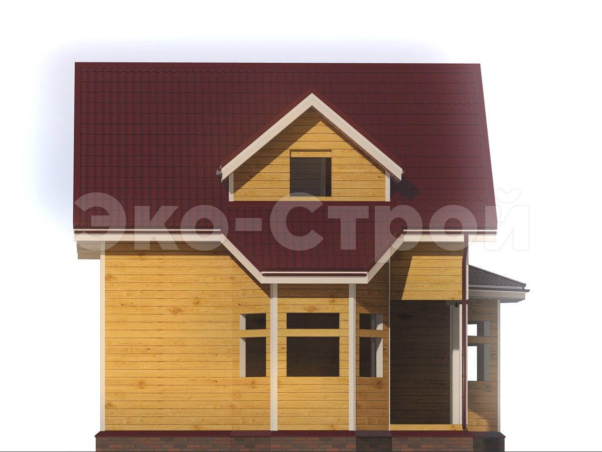Дом из бруса ДУ 076 вид 1