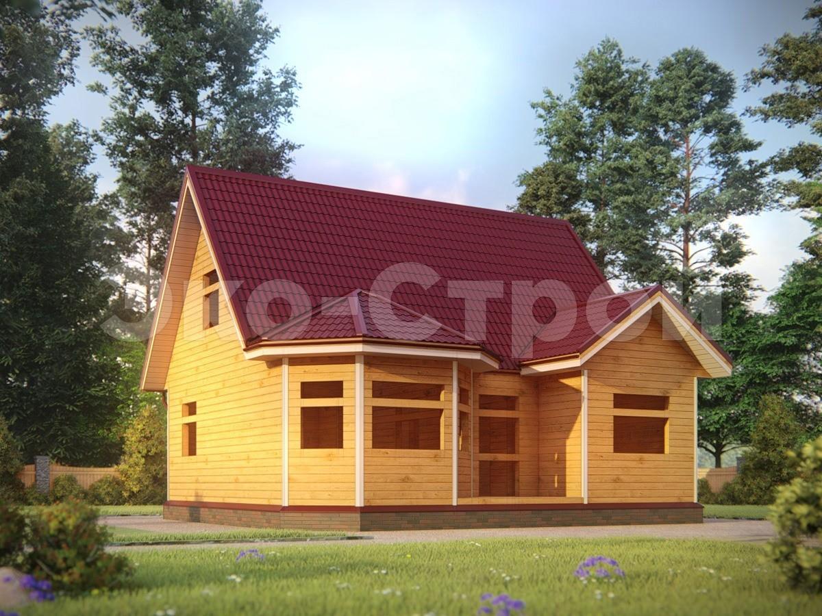 Дом из бруса ДУ 077 под усадку