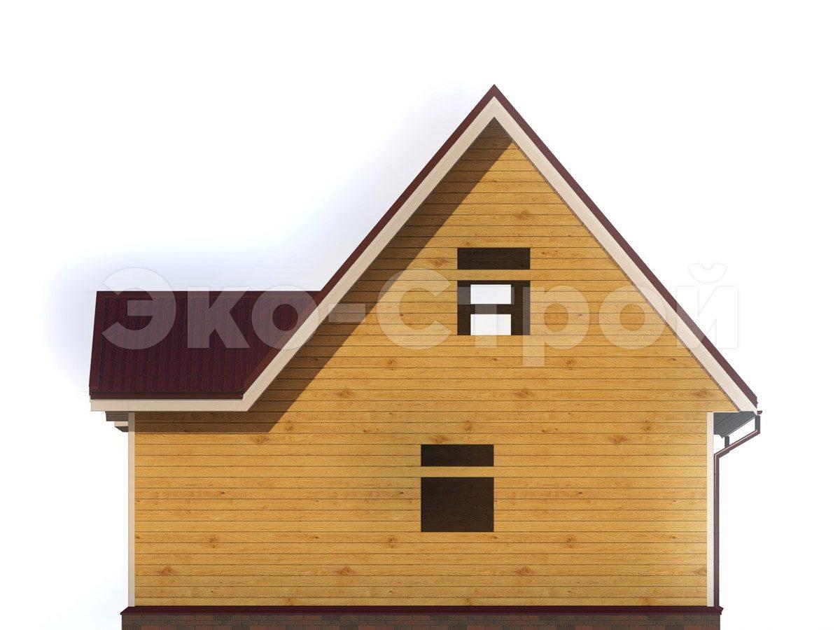 Дом из бруса ДУ 077 вид 3