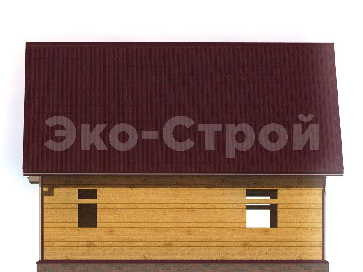 Дом из бруса ДУ 077 вид 2