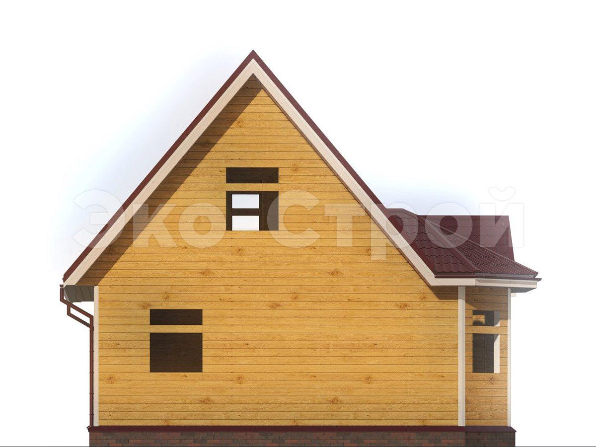Дом из бруса ДУ 077 вид 1