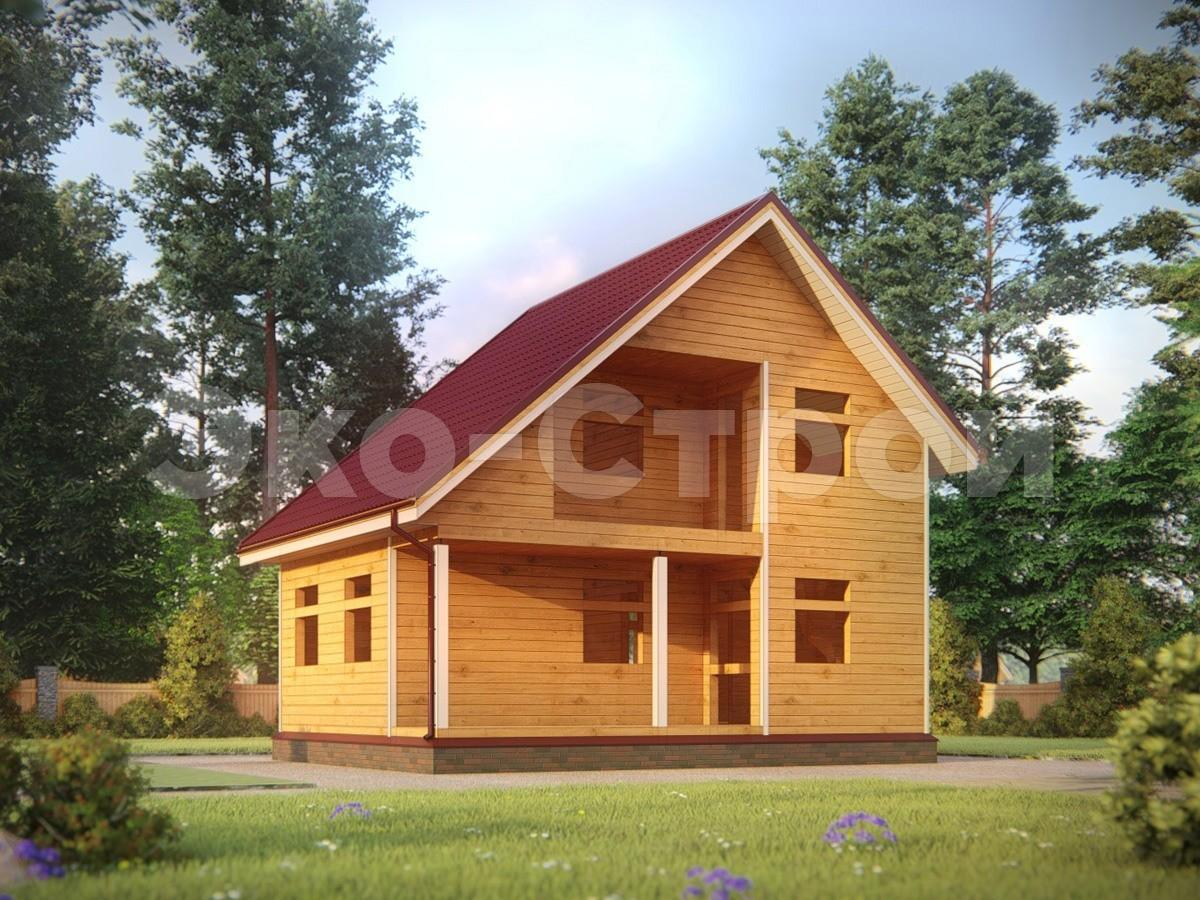 Дом из бруса ДУ 078 под усадку