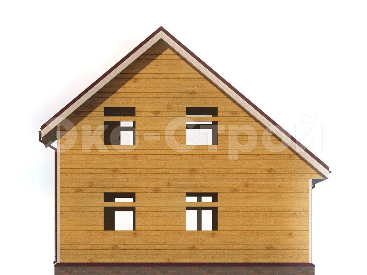 Дом из бруса ДУ 078 вид 2