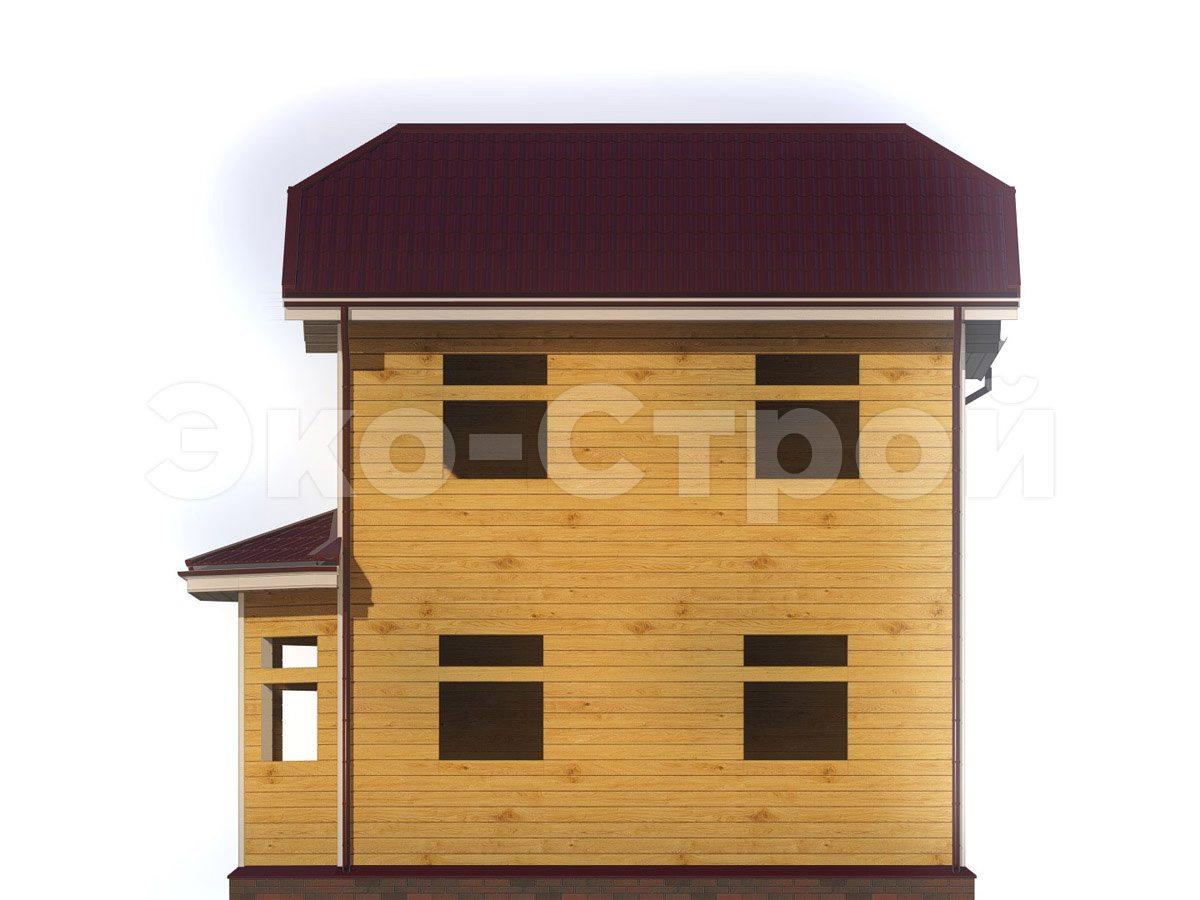 Дом из бруса ДУ 079 вид 3