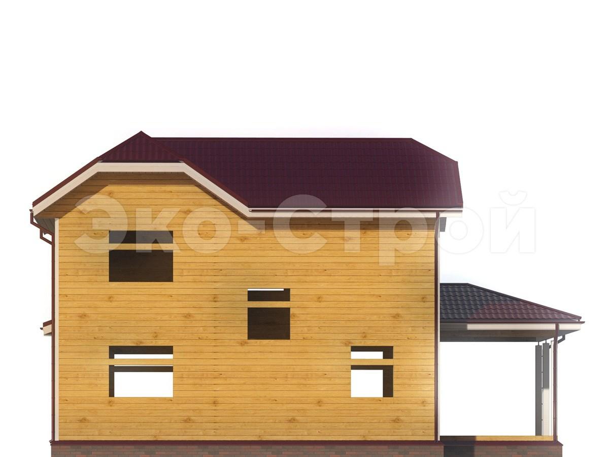Дом из бруса ДУ 079 вид 2