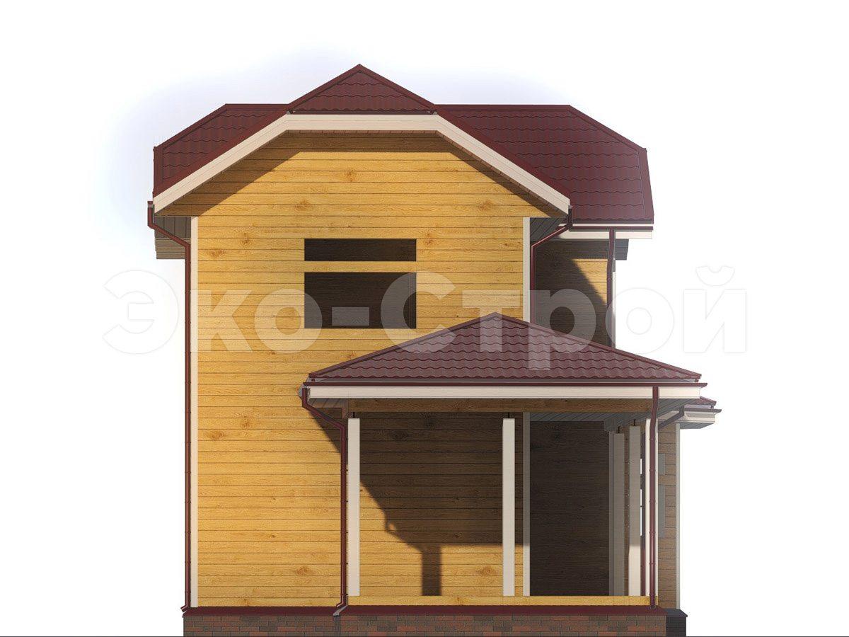 Дом из бруса ДУ 079 вид 1