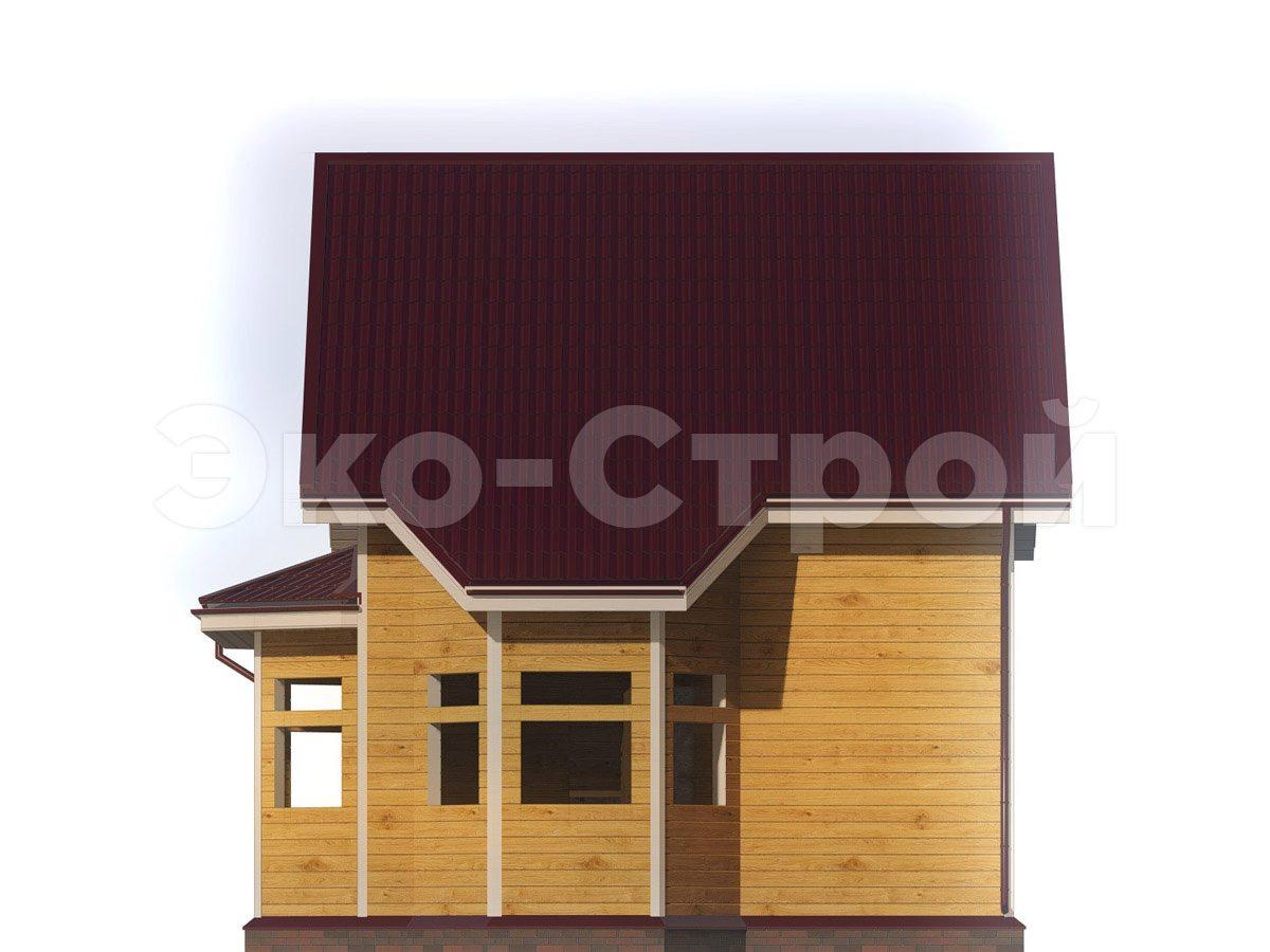 Дом из бруса ДУ 080 вид 3