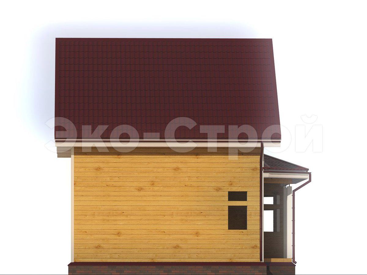 Дом из бруса ДУ 080 вид 1